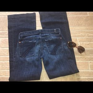 DoJo 7FAM Size 25 Women's Jeans 7 For All Mankind